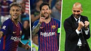 Neymar, Messi, Guardiola