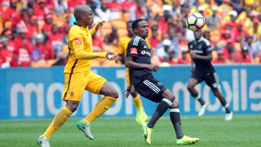 Willard Katsande and Thembinkosi Lorch - Kaizer Chiefs v Orlando Pirates