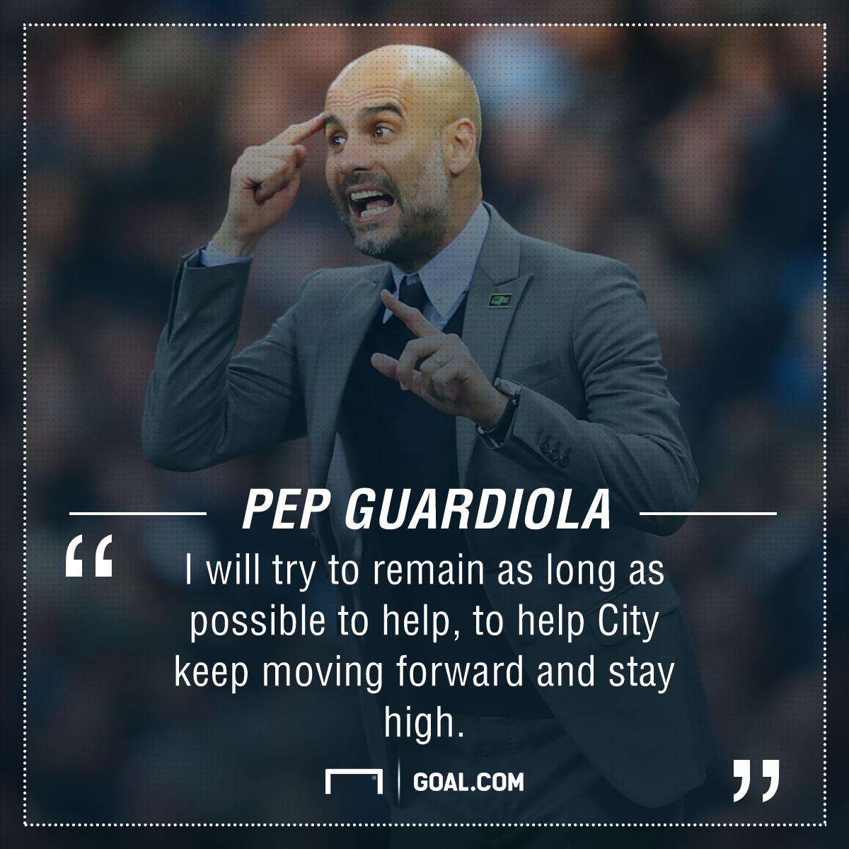 Pep Guardiola Manchester City future