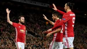 Juan Mata Ander Herrera Zlatan Ibrahimovic Manchester United Rostov Europa League 16032017