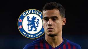 Coutinho, Chelsea logo