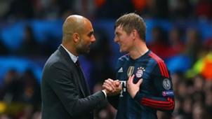 Pep Guardiola Toni Kroos Bayern Munich