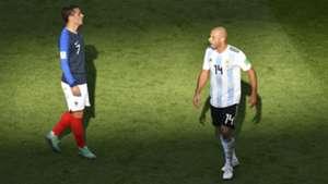 Griezmann Mascherano Argentina France Francia World Cup  2018 30062018