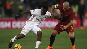 Franck Kessié Radja Nainggolan Roma Milan Serie A 02252018