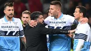 Gennaro Gattuso Sergej Milinkovic-Savic Milan Lazio Serie A 2019