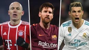 Arjen Robben Lionel Messi Cristiano Ronaldo GFX