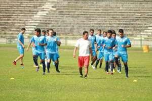 Latihan Arema Stadion Tri Dharma Gresik
