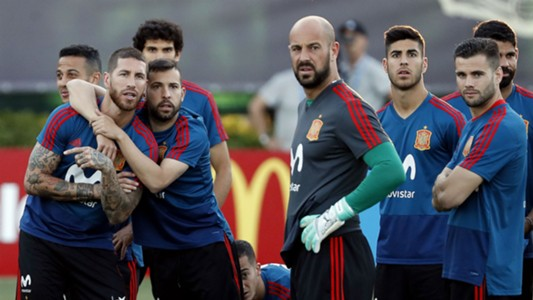 Spain training World Cup 2018