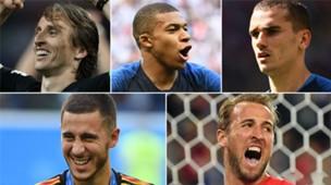 GFX craques Copa 2018 Modric Mbappe Griezmann Hazard Kane