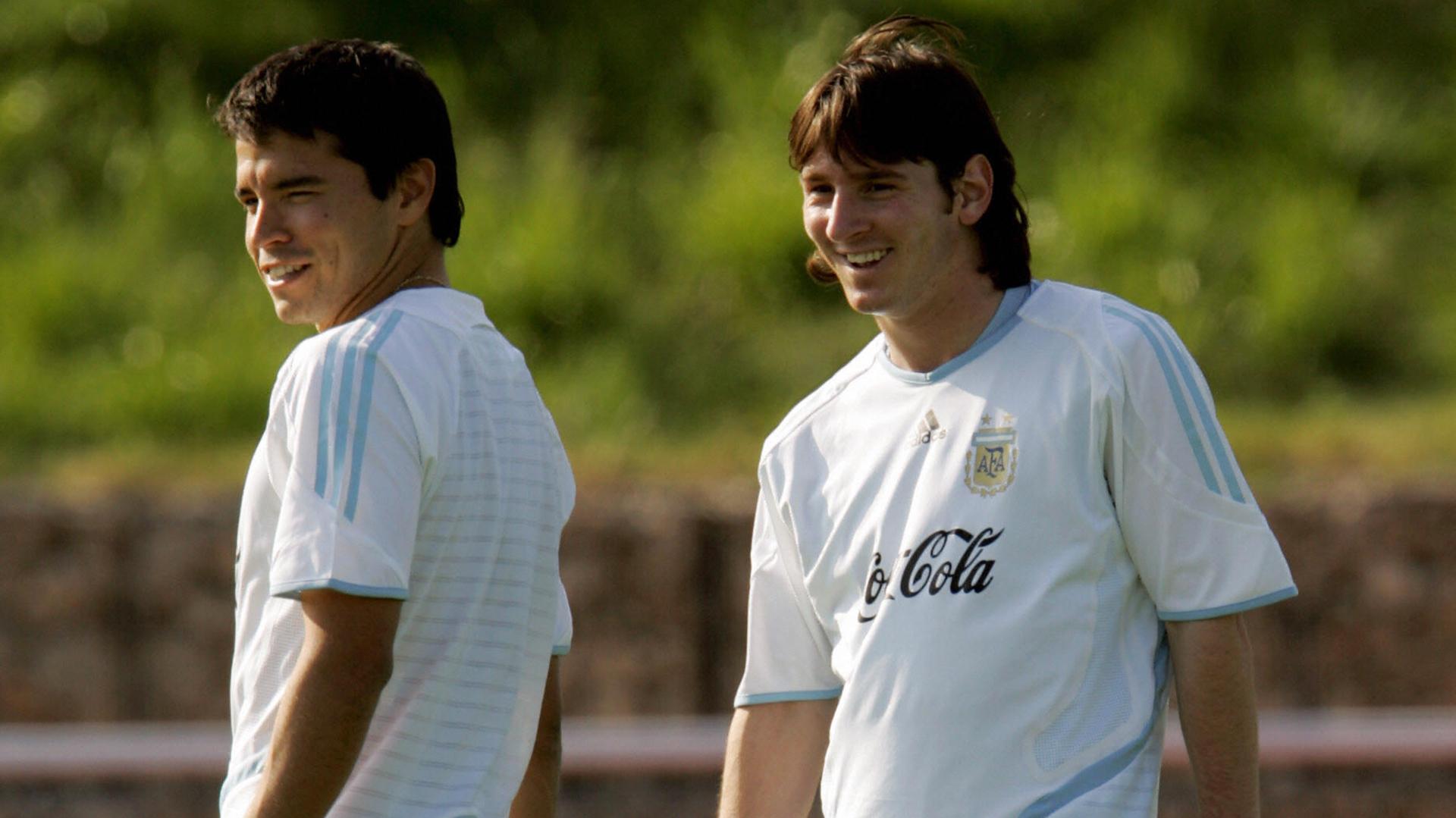 Javier Saviola Lionel Messi Argentina 2006