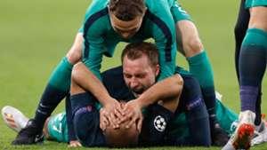 Tottenham celebrate vs Ajax 2019