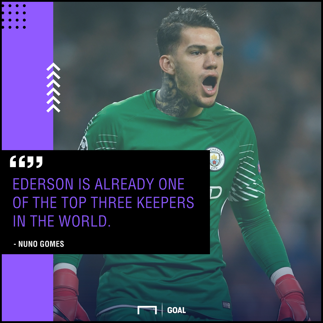 Ederson top three goalkeeper Nuno Gomes