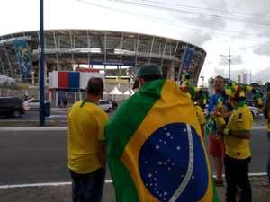 Arredores da Fonte Nova antes de Brasil x Venezuela