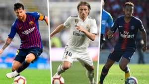 Lionel Messi Luka Modric Neymar Split
