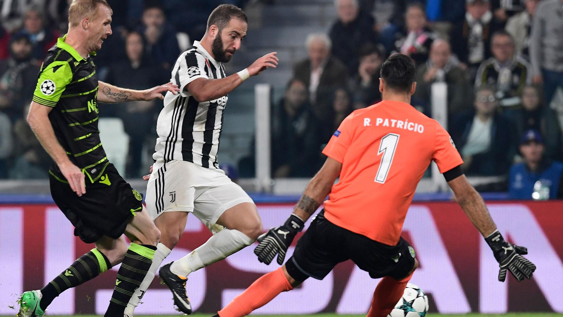 Gonzalo Higuain Juventus Sporting Champions League