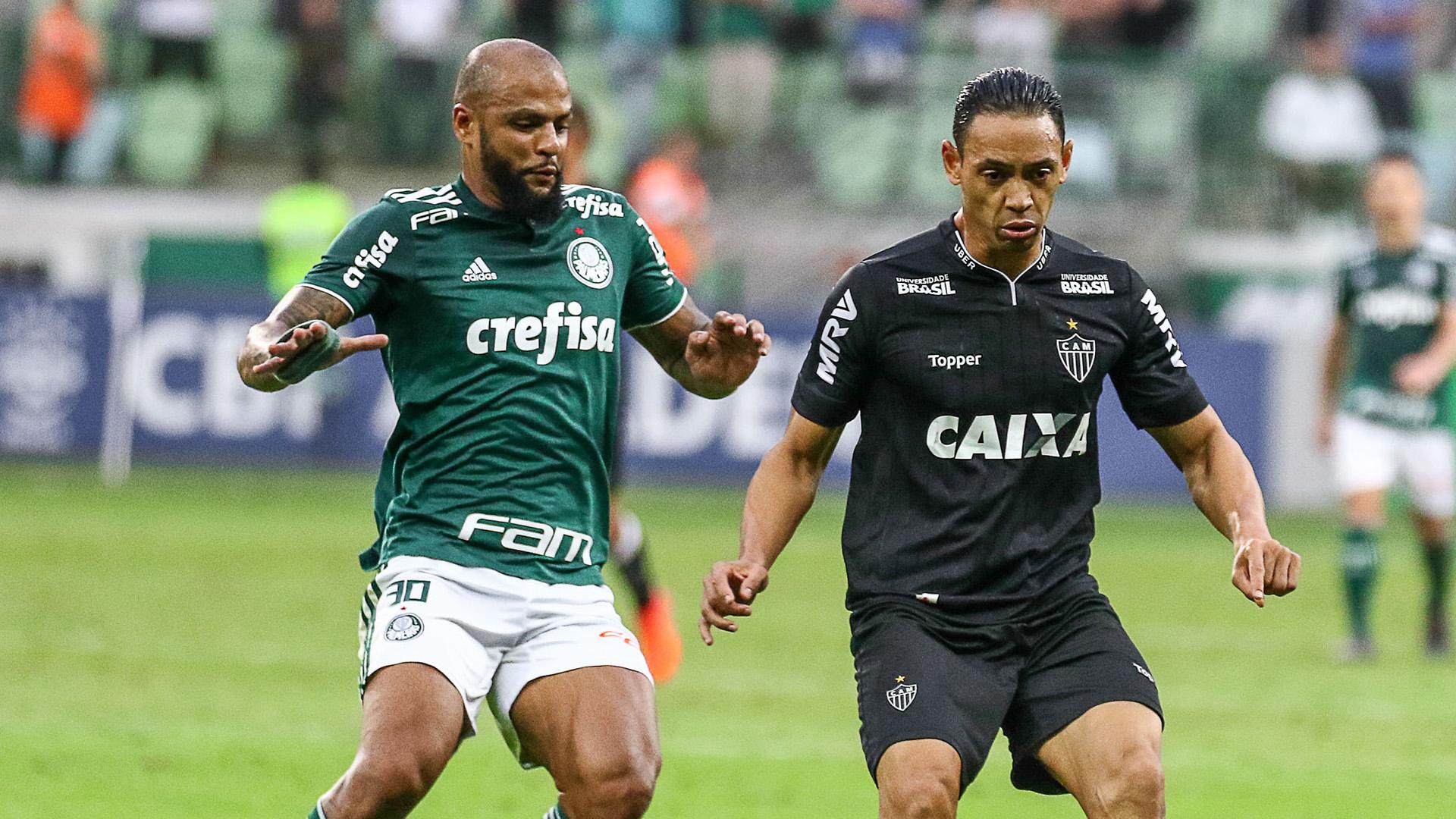 Ricardo Oliveira Felipe Melo Palmeiras Atletico-MG Brasileirao Serie A 22072018