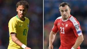 Neymar Shaqiri Brazil Switzerland 2018