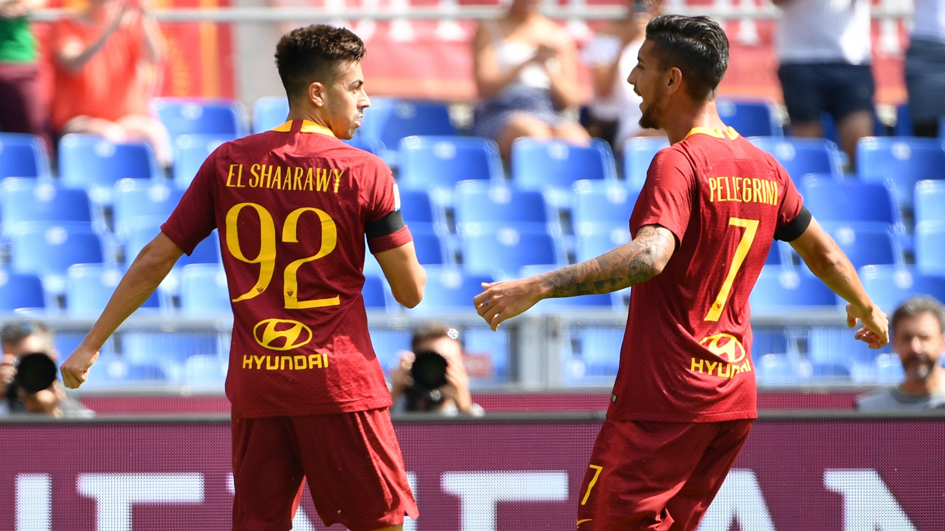 Stephan El Shaarawy Lorenzo Pellegrini Roma Chievo Serie A 09162018