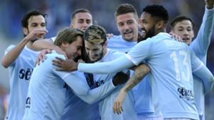 Lazio celebrating Serie A