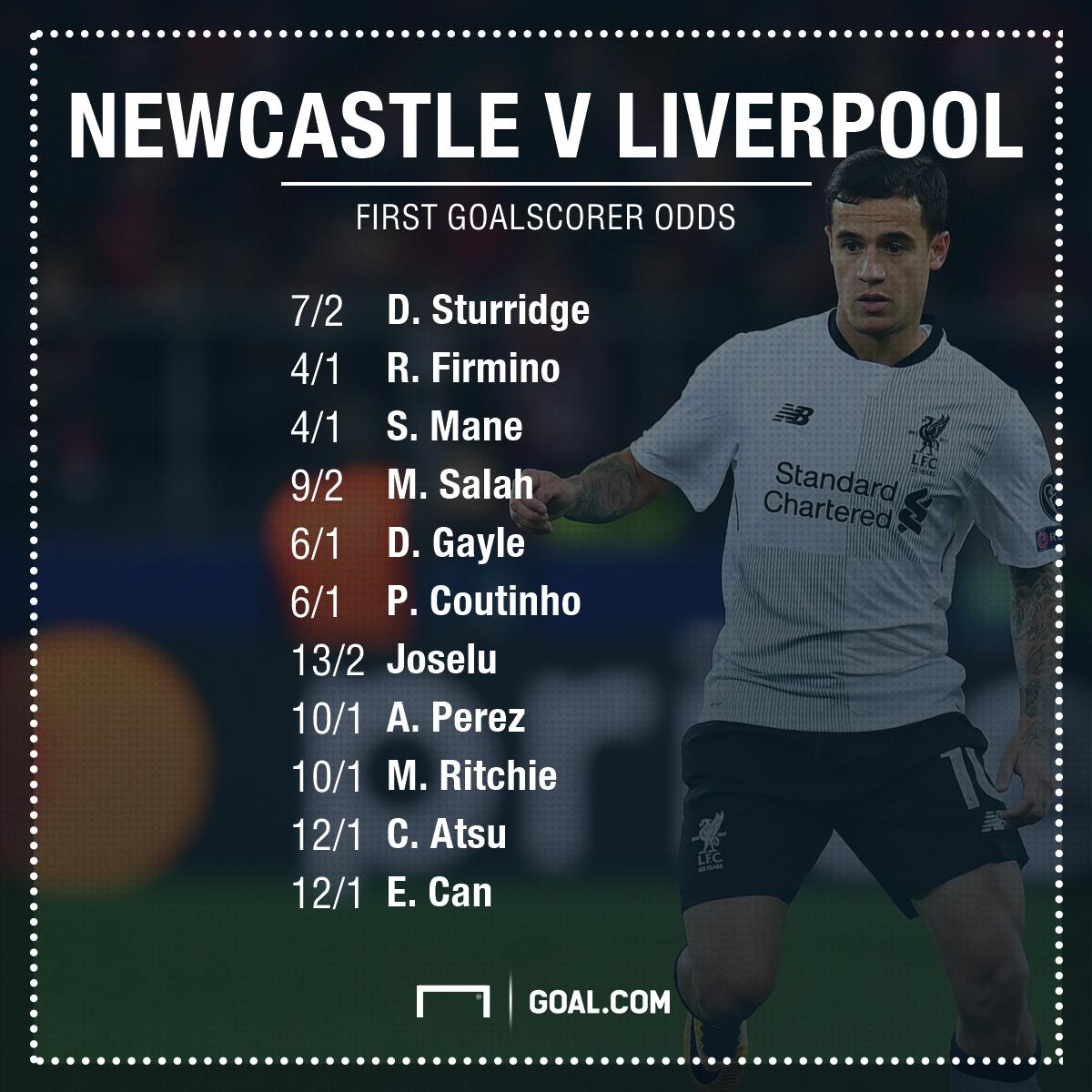 Newcastle v Liverpool betting
