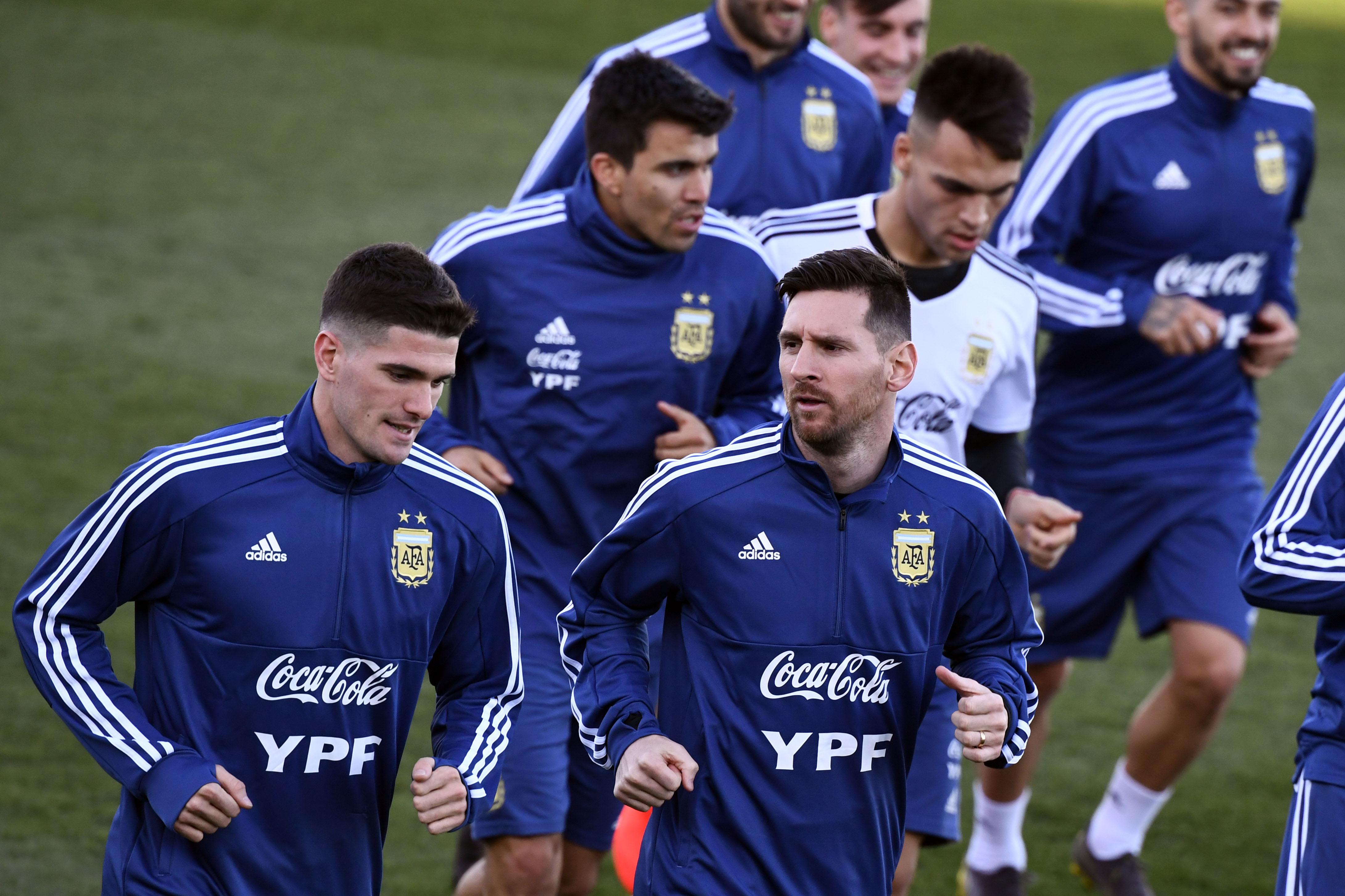 Messi De Paul Acuña Lautaro Martinez Seleccion Argentina 280319