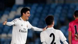 Jaume Grau, en un partido con el Real Madrid Castilla