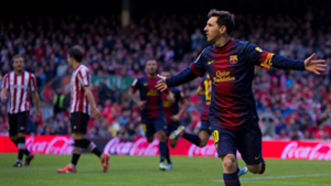 Lionel Messi Barcelona Athletic Bilbao La Liga 2013