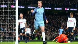 Kevin De Bruyne Premier League Manchester City v Tottenham 210117