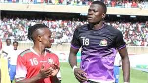 Kenya and Harambee Stars players Patrick Matasi and Francis Kahata.
