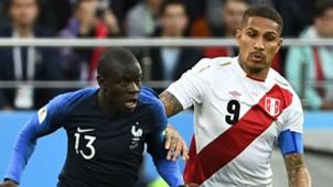 Ngolo Kante France Paolo Guerrero Peru World Cup 2018