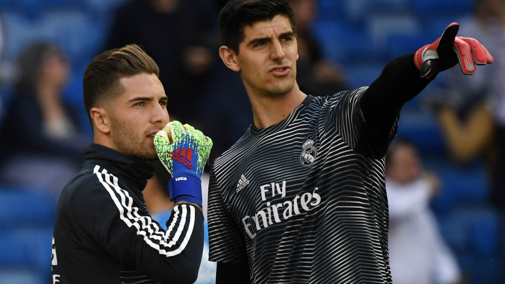LUCA ZIDANE THIBAUT COURTOIS REAL MADRID