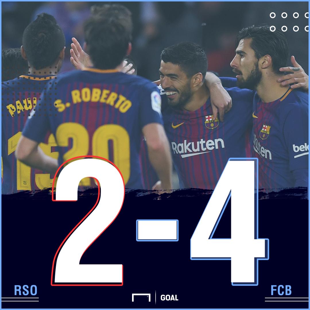 Barcelona Real Sociedad score