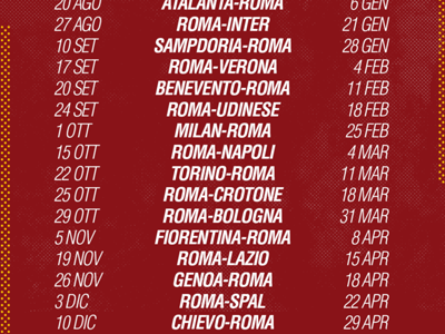 Calendario Roma.Calendario Serie A Roma 2017 2018 Partite E Date Goal Com