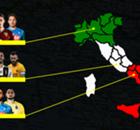 Se le regioni fossero squadre? Ecco le formazioni