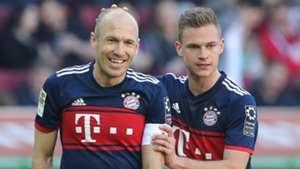 Arjen Robben Joshua Kimmich Bayern Munchen