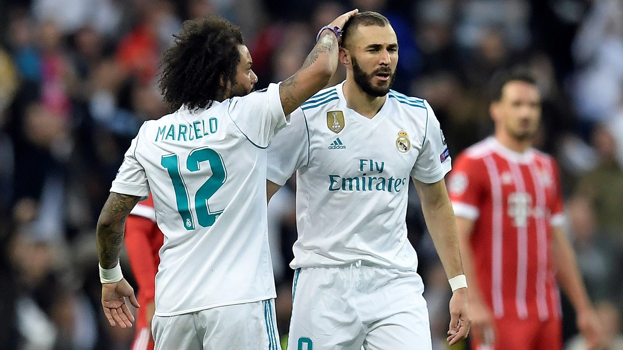 Marcelo Karim Benzema Real Madrid Bayern Munich UCL 01052018