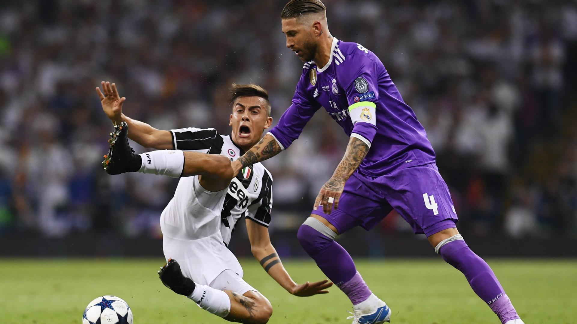 Paulo Dybala Sergio Ramos Juventus Real Madrid 020617