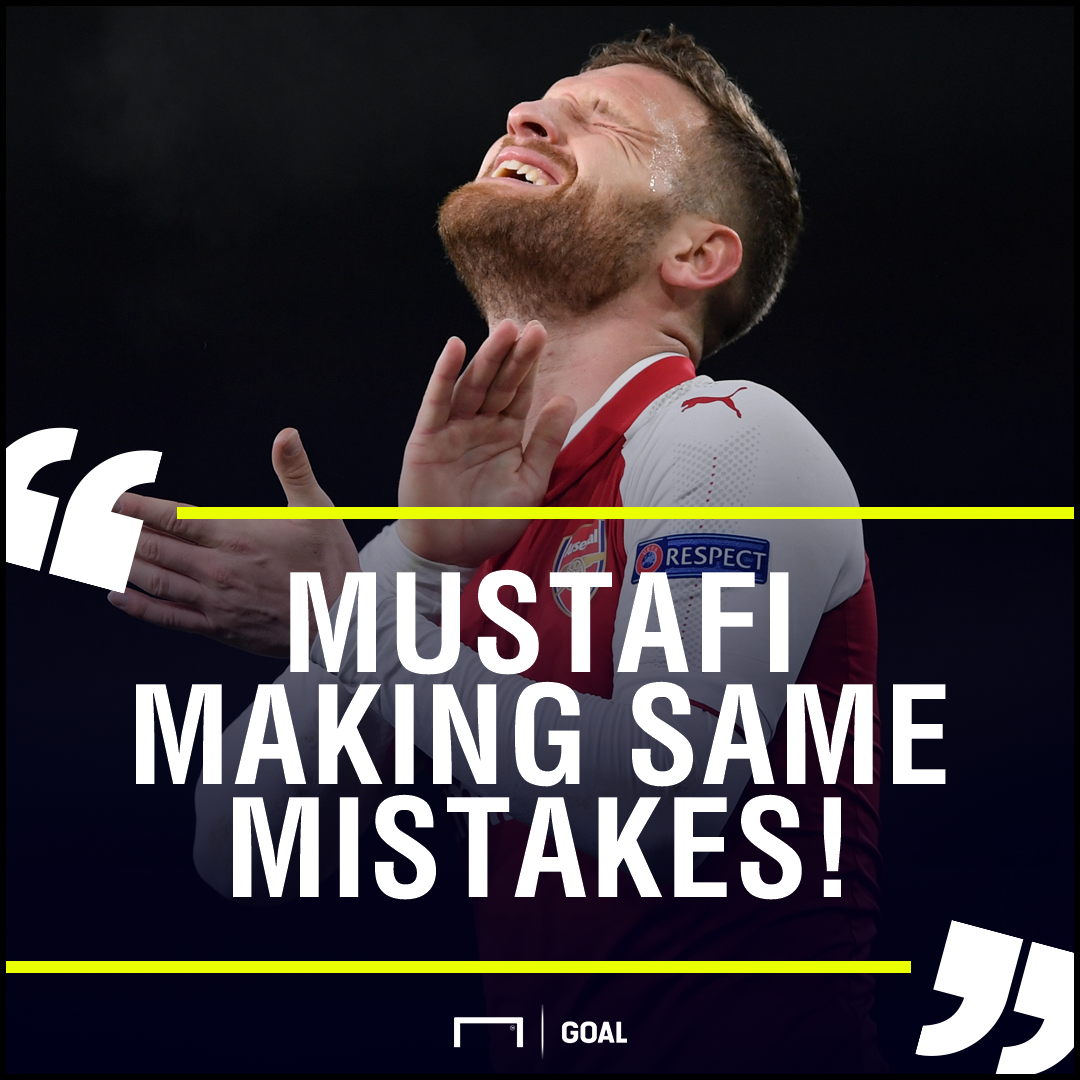 Skhodran Mustafi making same mistakes Martin Keown
