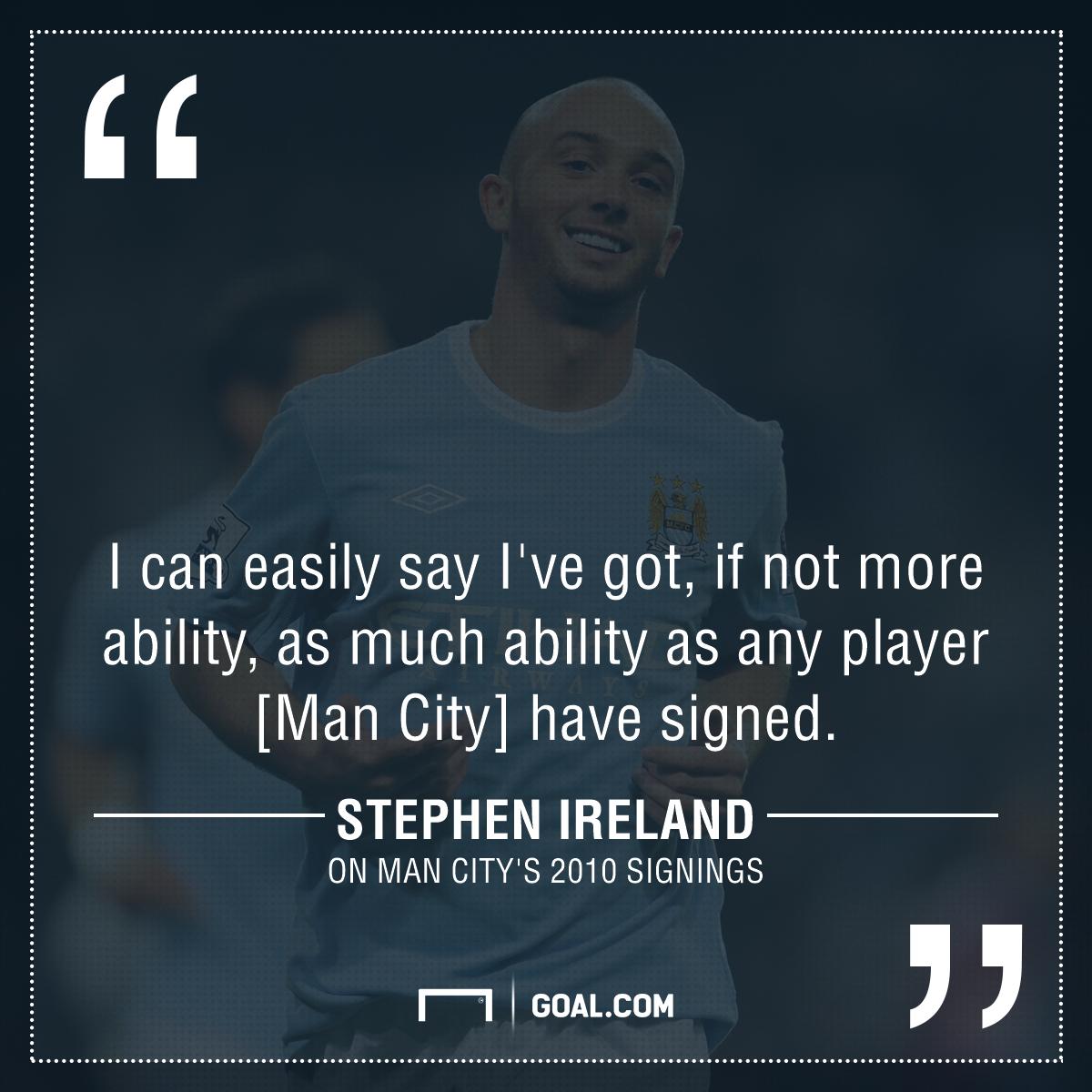 GFX Stephen Ireland on Man City signings
