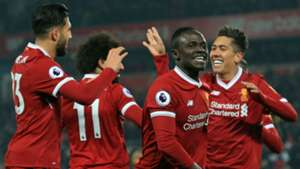Liverpool celebration Mane Firmino Can