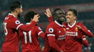 Liverpool celebration Mane Firmino Can