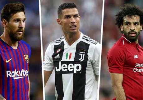 Messi, Ronaldo, Salah & the top 20 scorers of 2018