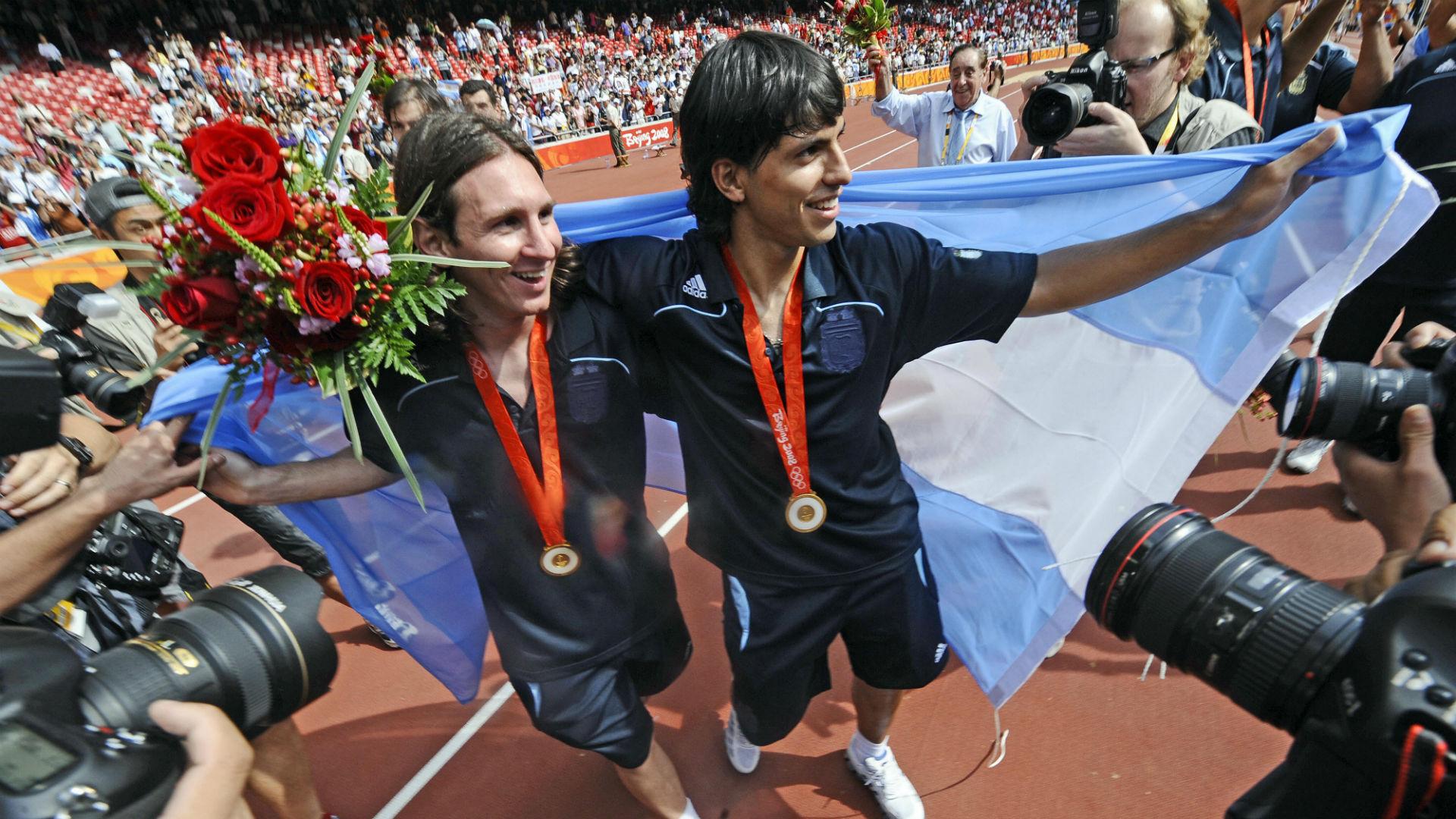 Lionel Messi Sergio Aguero Beijing 2008 Olympics Games