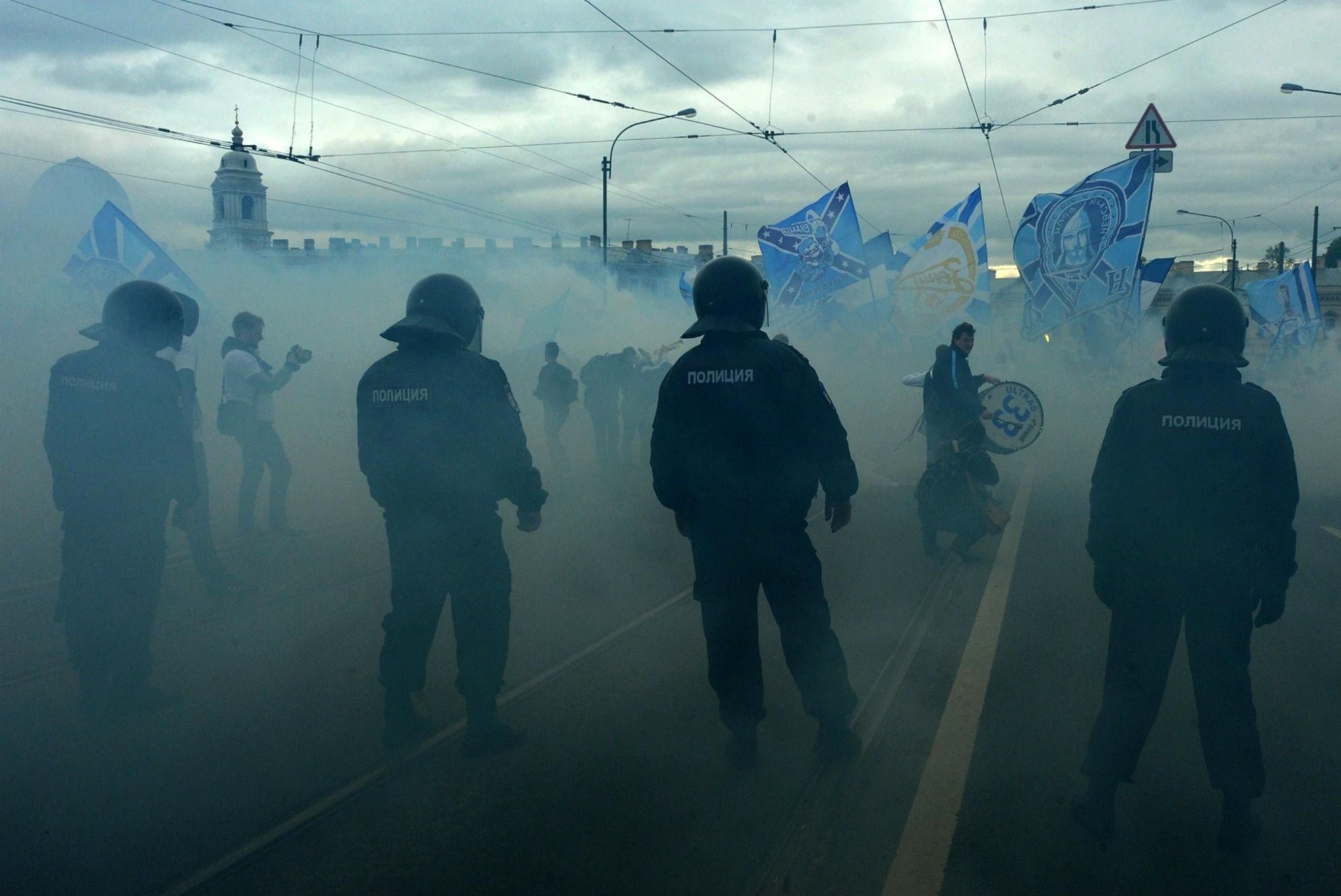 Russian police Zenit St Petersburg