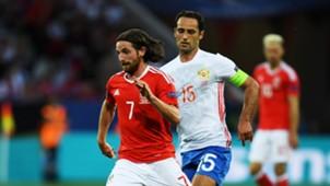 Joe Allen - Wales vs Russia