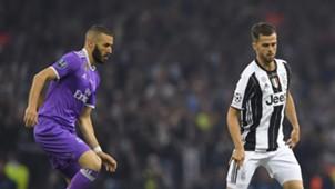 Karim Benzema Miralem Pjanic Juventus Real Madrid UCL 03062017