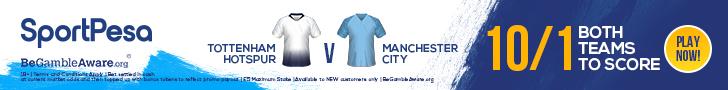 Spurs Man City SportPesa offer