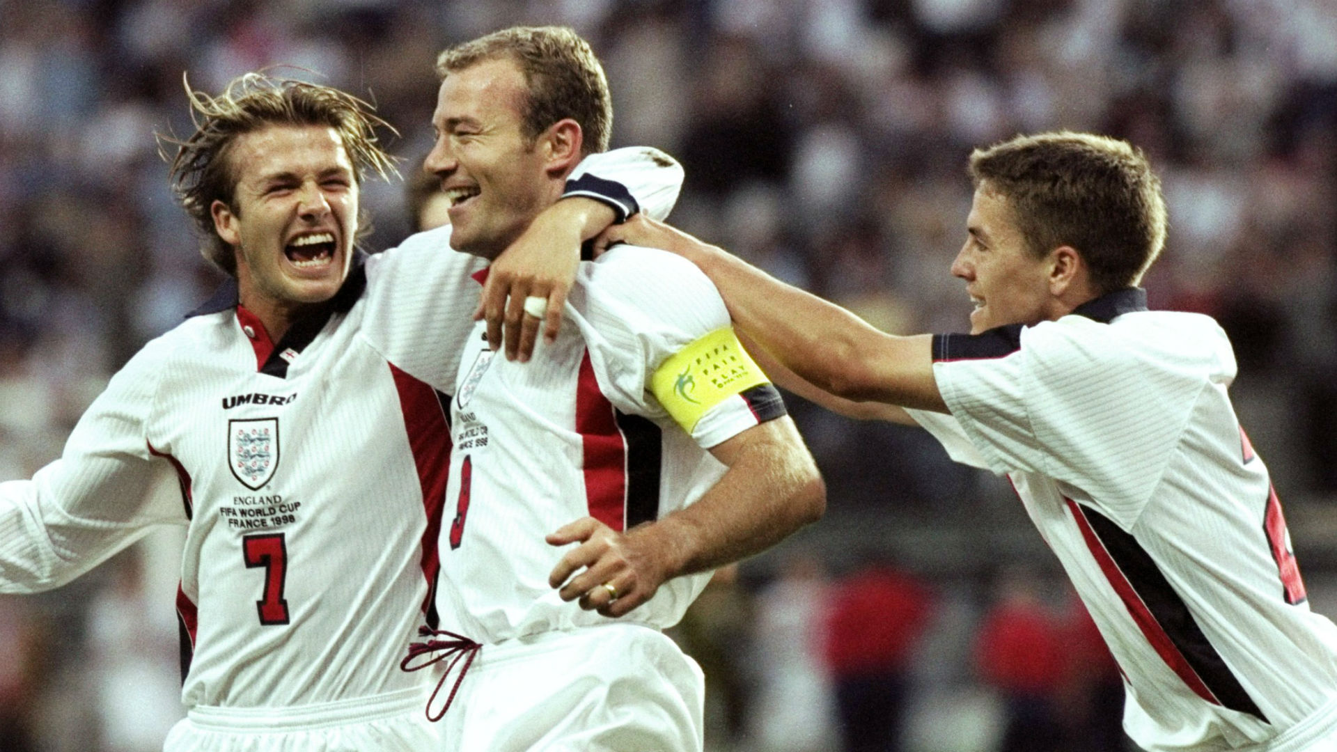 David Beckham Alan Shearer Michael Owen England World Cup 1998