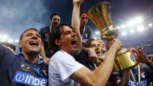 Simone Inzaghi wins Coppa Italia 2003-2004 with Lazio