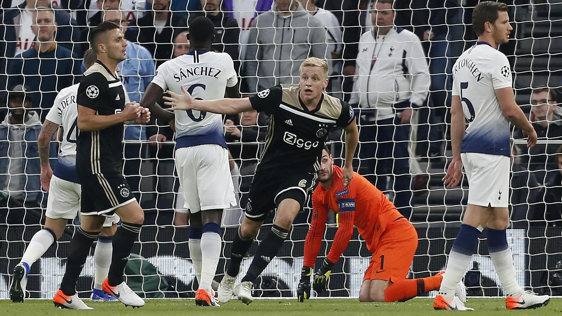 Donny van de Beek Tottenham Hotspur Ajax Amsterdam Champions League 30042019